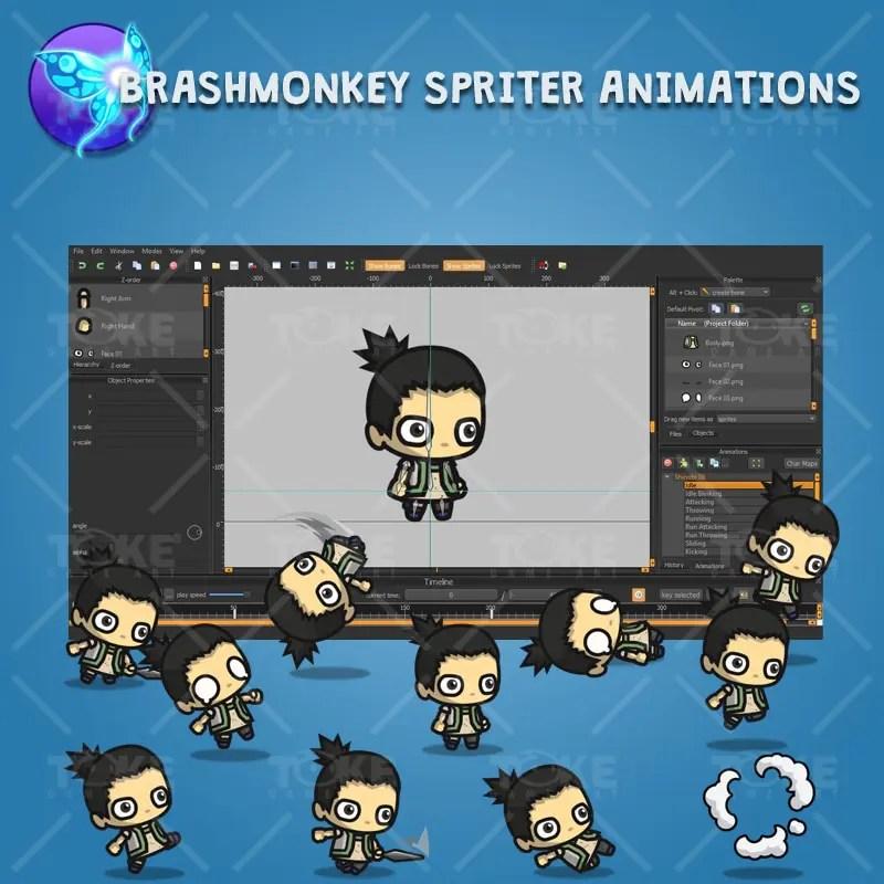 Pigtail Shinobi Guy - Brashmonkey Spriter Animation