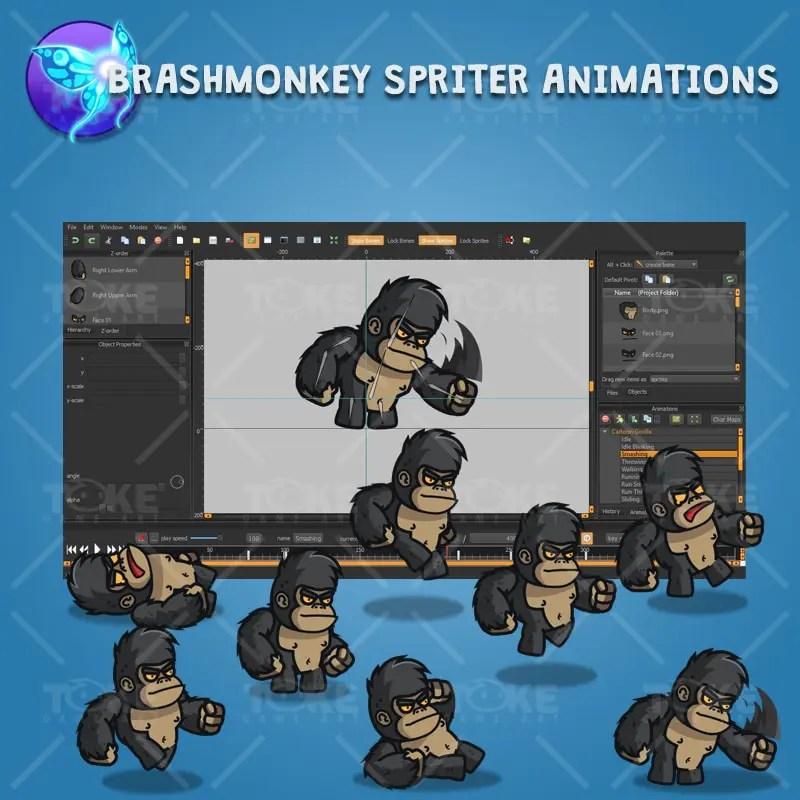 Cartoon Gorilla - Brashmonkey Spriter Character Animation