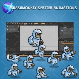 Cartoon Yeti - Brashmonkey Spriter Character Animation