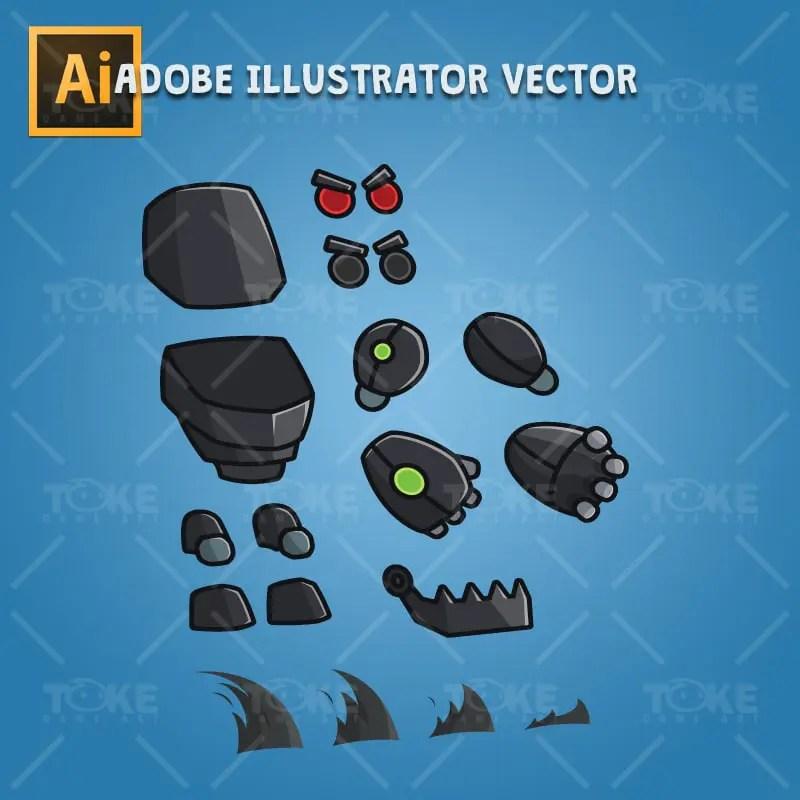 Gian Robot - Adobe Illustrator Vector Art Based