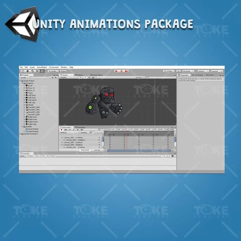 Gian Robot - Unity Animation Ready