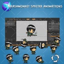 Taijutsu Master Shinobi - Brashmonkey Spriter Character Animation