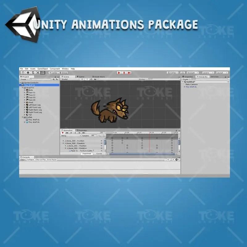 Tiny Wolves - Unity Animation Ready