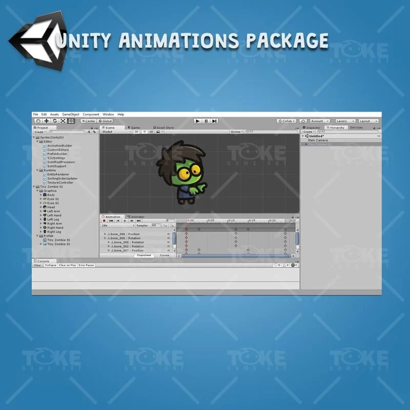 Tiny Zombies - Unity Animation Ready