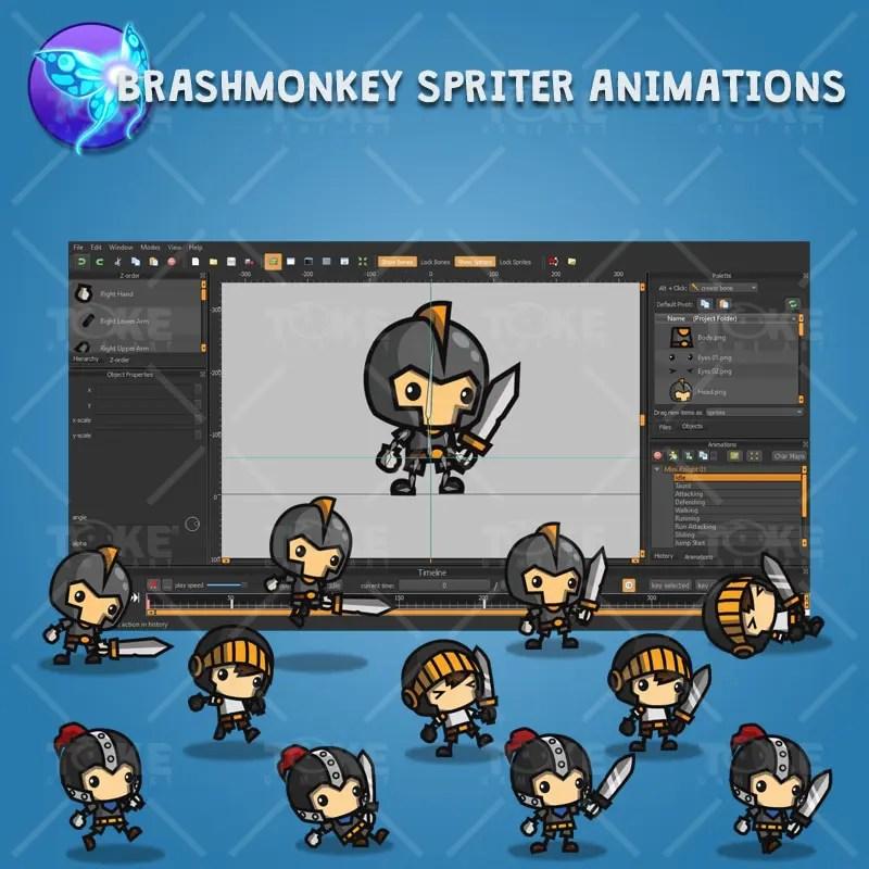 Mini Knight Character Pack - Brashmonkey Spriter Character Animation