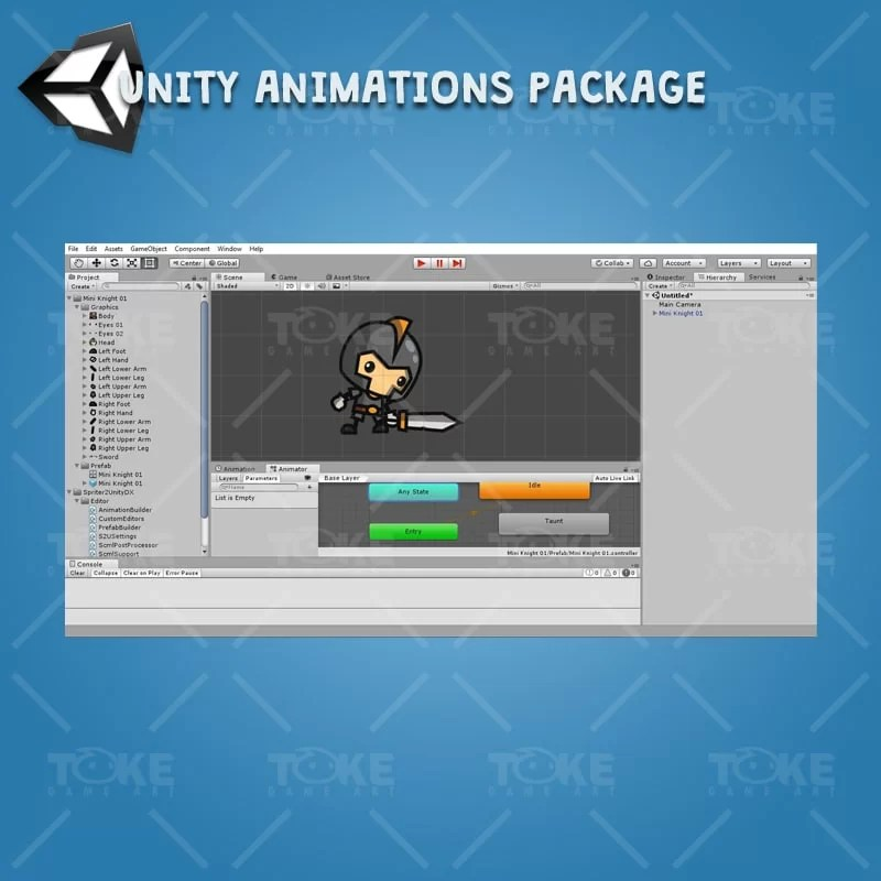 Mini Knight Character Pack - Unity Character Animation Ready