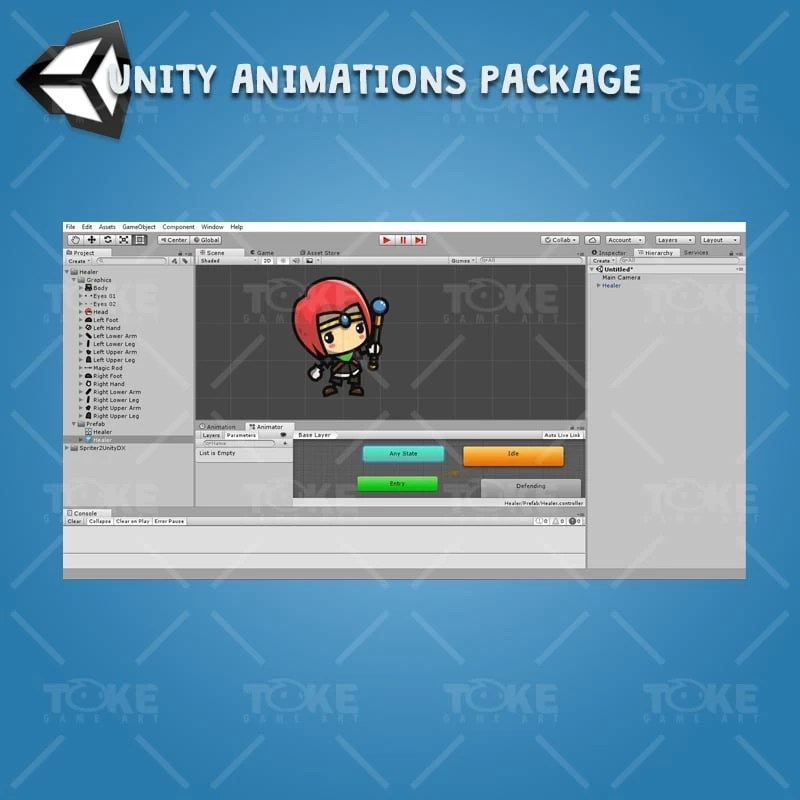 RPG Hero Character Pack - Unity Character Animation Ready with Spriter2Unity