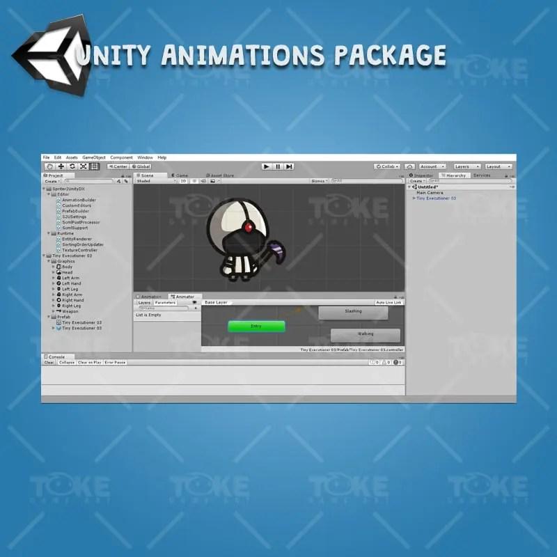 Tiny Executioners - Unity Character Animation Ready