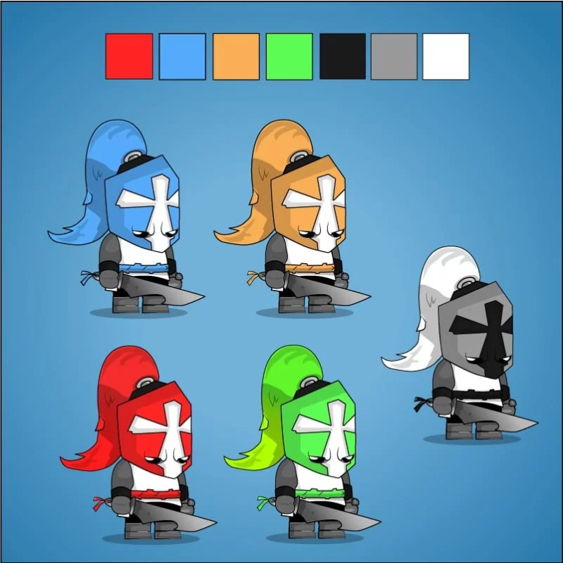 Chibi Crusader Knight - 5 Different Colors