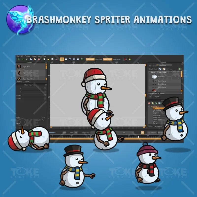 Snowman Character Pack - Brashmonkey Spriter Character Animation