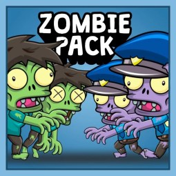 Zombie Pack 2D Game Character Sprite