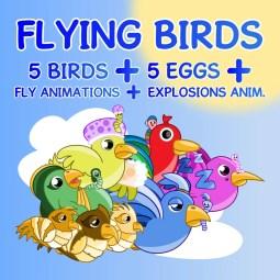 Cool Flying Birds Art