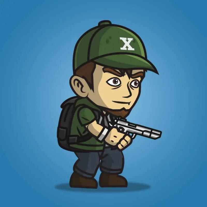 Urban Army Squad - Hat Guy