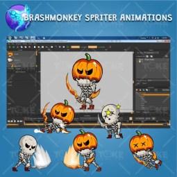 Skeleton Pack Game Character Sprite - Brashmonkey Spriter Character Animation