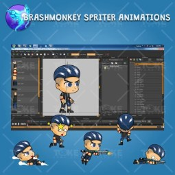 Aex - Boy 2D Game Character Sprite - Brashmonkey Spriter Character Animation