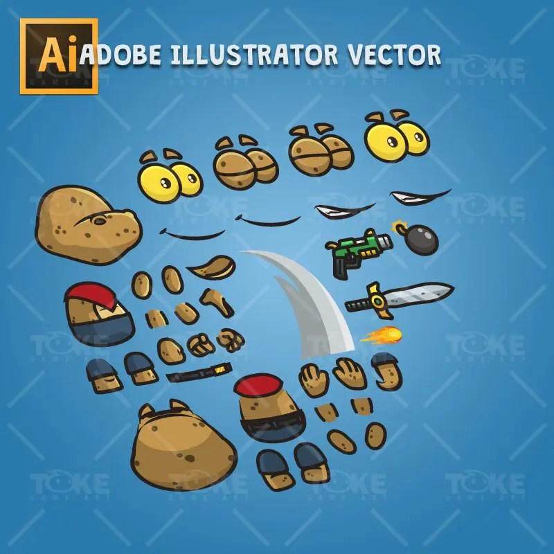 Cute Gecko - Adobe Illustrator Vector Art Based Character
