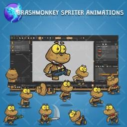 Cute Gecko - Brashmonkey Spriter Character Animation