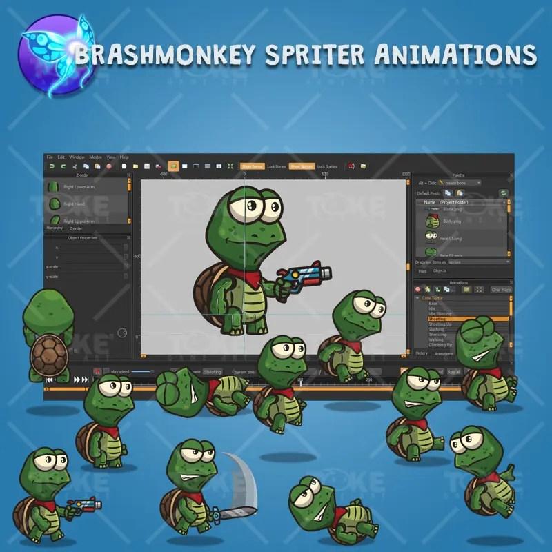 Cute Turtle - Brashmonkey Spriter Character Animation