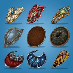 Medieval Hand Painted Shield Icon Pack
