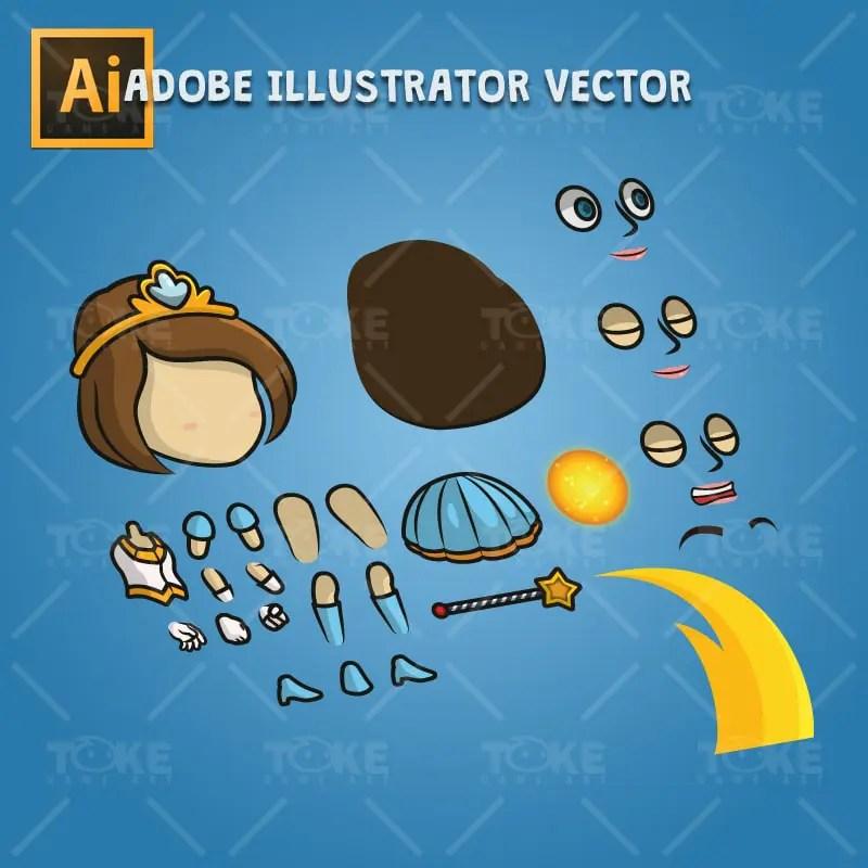 Princess - Adobe Illustrator Vector Art Based Character
