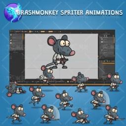 Samurai Mouse - Brashmonkey Spriter Character Animations