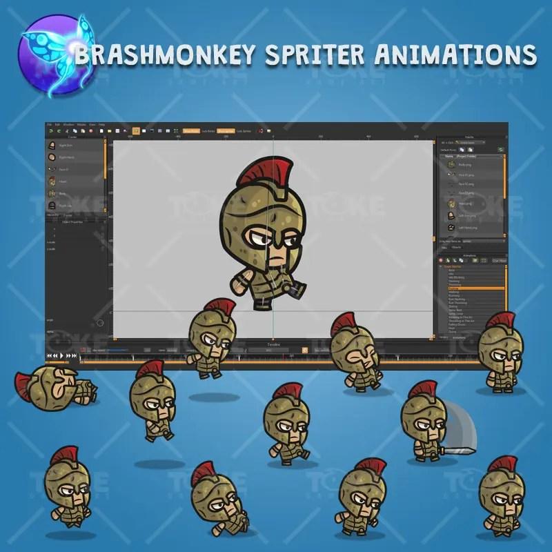 Greek Warrior - Brashmonkey Spriter Character Animations