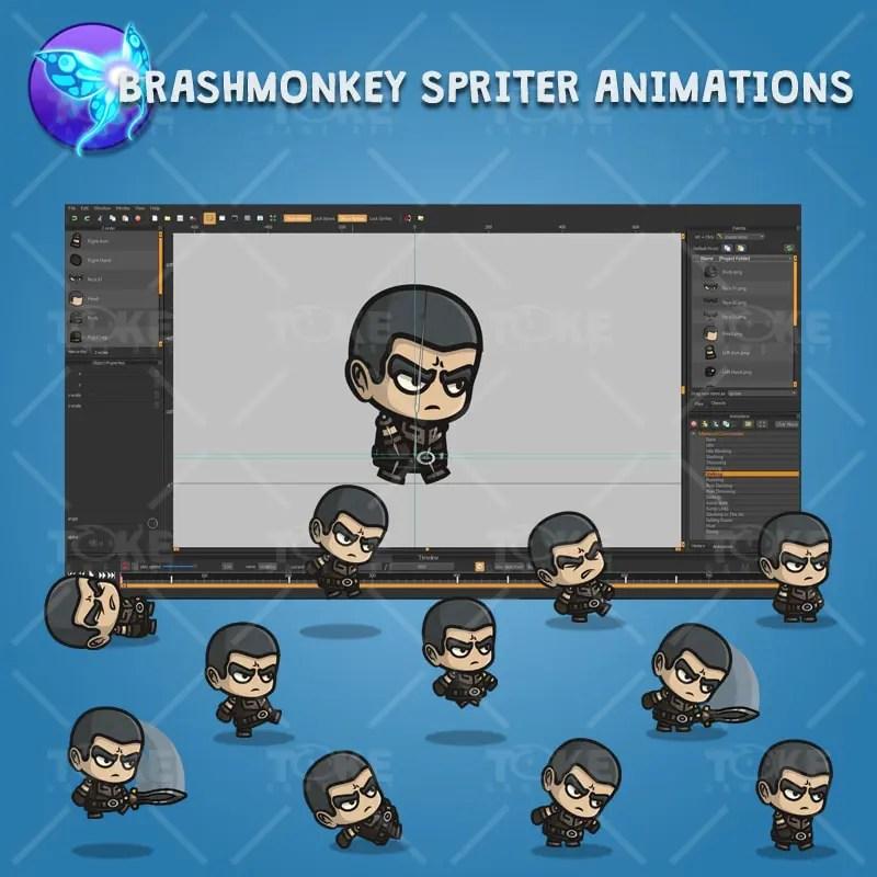 Medieval Commander - Brashmonkey Spriter Character Animations