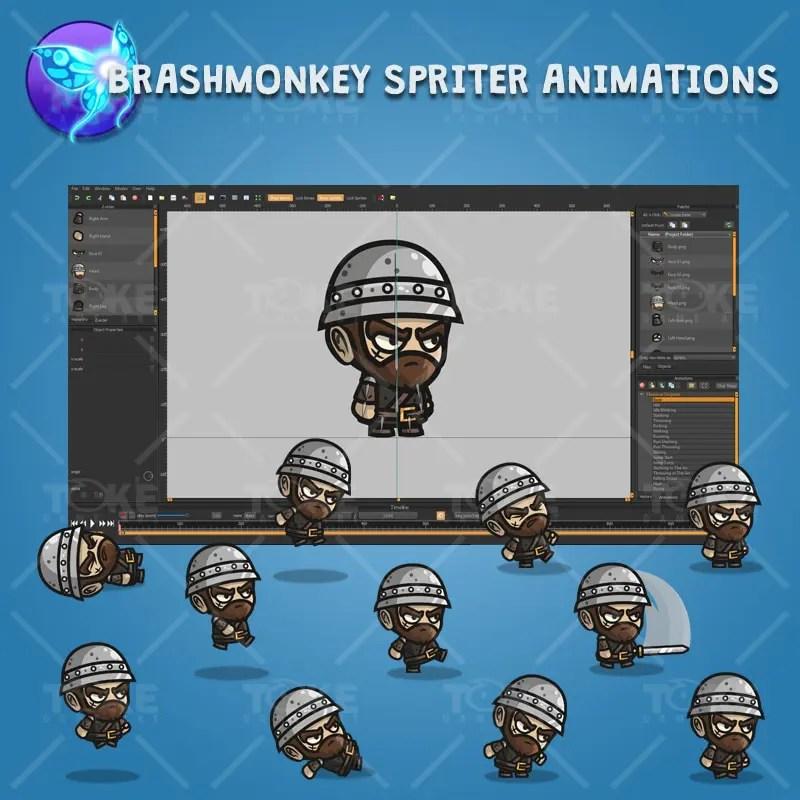 Medieval Sergeant - Brashmonkey Spriter Character Animations