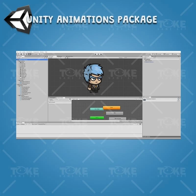 Medieval Warrior - Unity Character Animation with Spriter2UnityDX Tool