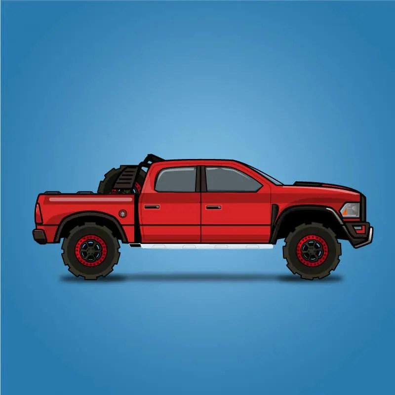 Dodge Ram Rebel TRX - 2D Free Game Assets