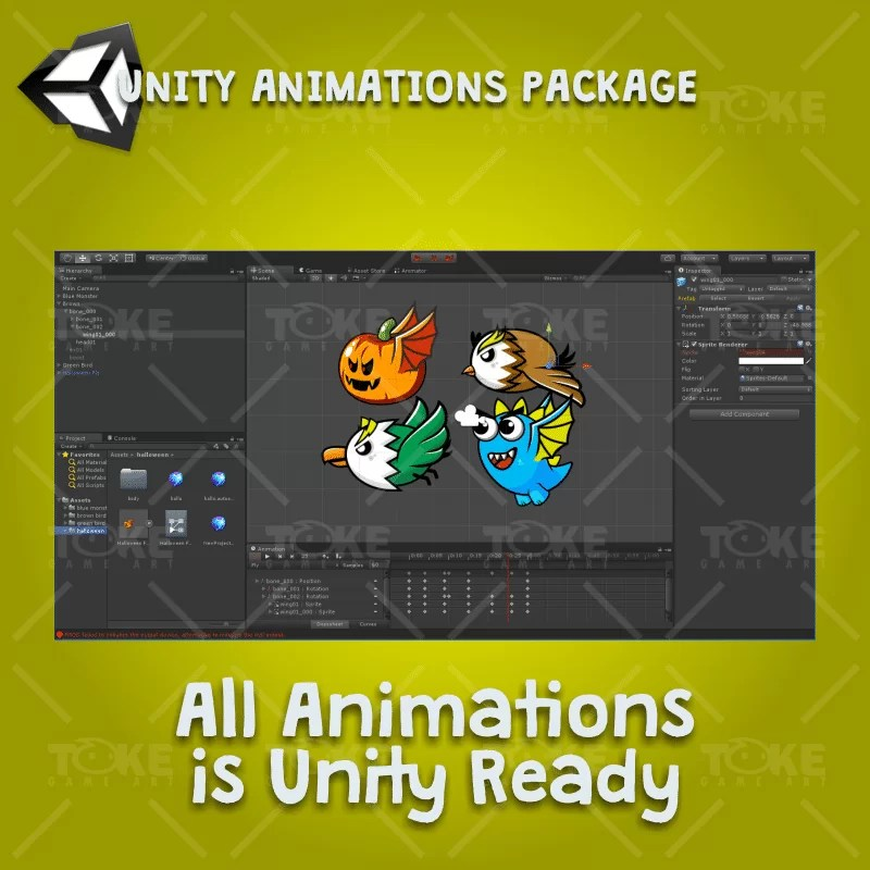 Flying Enemy 4 Pack - Unity Character Animation Ready