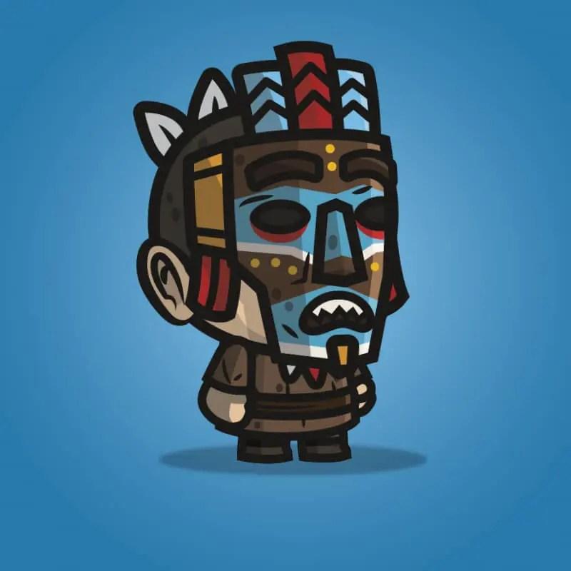 Medieval Masked Guy - 2D Character Sprite for Indie Game Developer