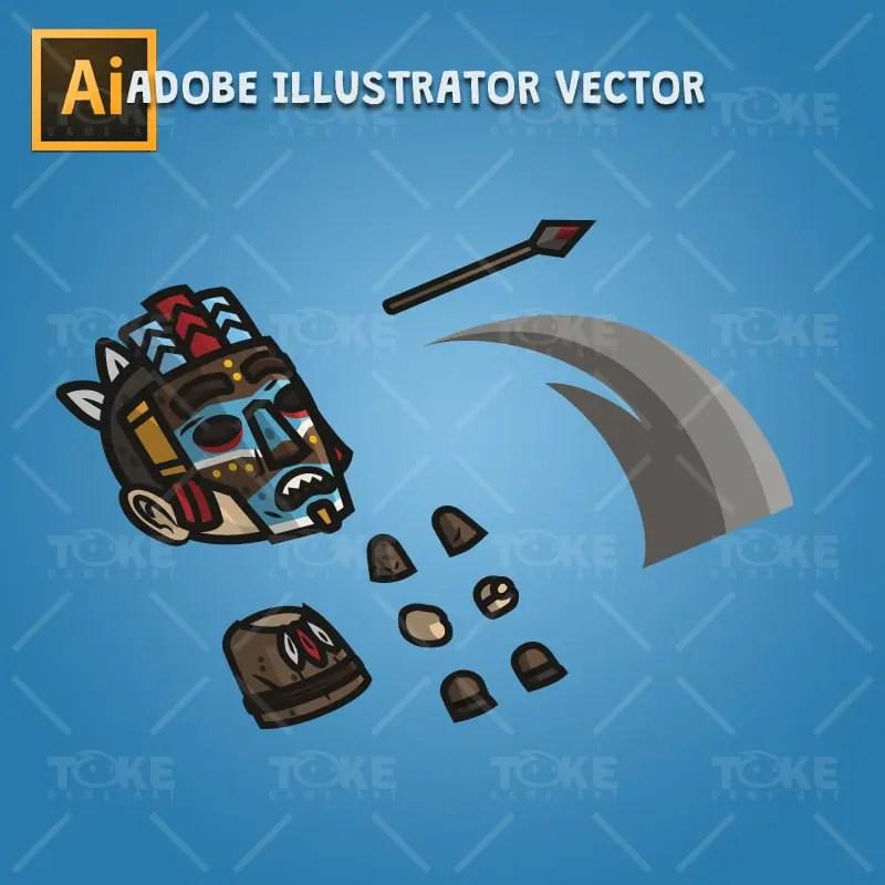 Medieval Masked Guy - Adobe Illustrator Vector Art Based Character Body Parts