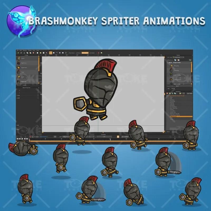 Frontier Defender Spartan Knight - Brashmonkey Spriter Character Animations