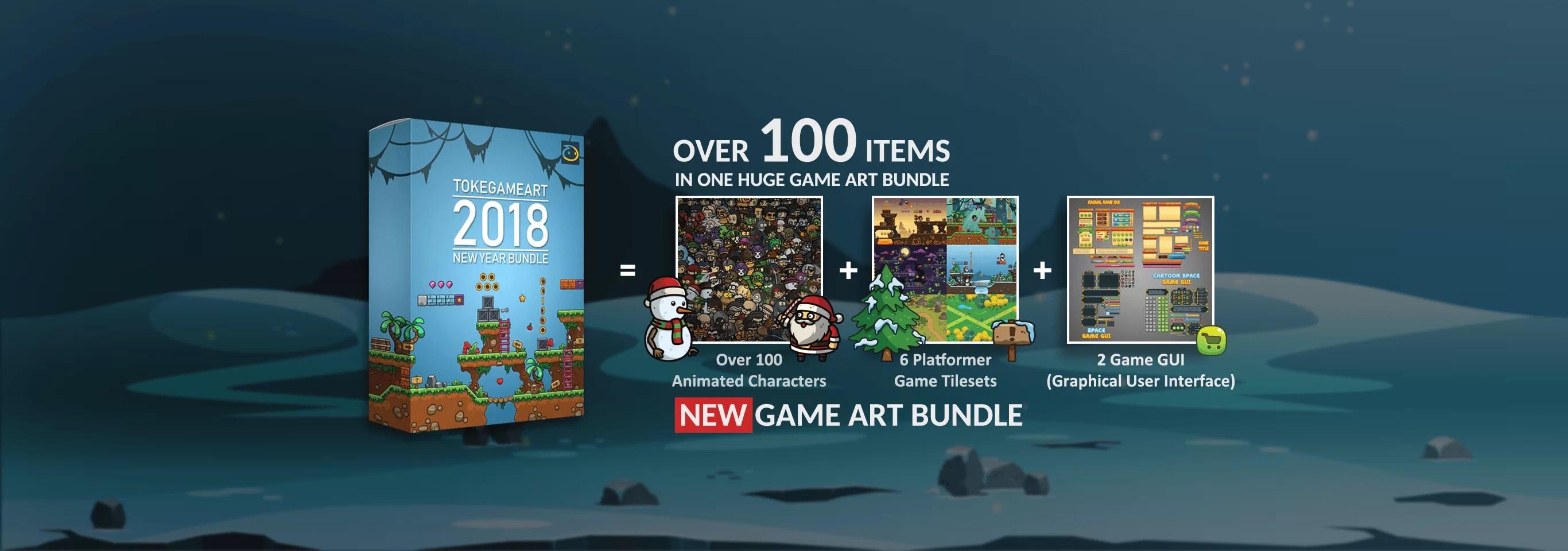 TokeGameArt 2018 New Year Bundle - Over 100 items in one huge bundle
