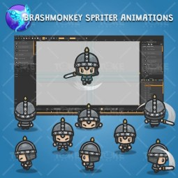 4 Directional Castle Guard - Brashmonkey Spriter Character Animations