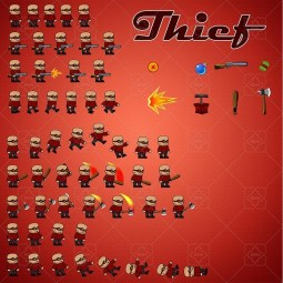 Thief 02 character sprite for side scrolling games. Perfect for enemy in your 2D gam. TokeGameArt - Royalty Free Game Asset for Indie Game Developer.Thief 02 character sprite for side scrolling games. Perfect for enemy in your 2D gam. TokeGameArt - Royalty Free Game Asset for Indie Game Developer.