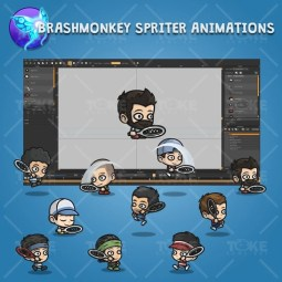 Tiny Tennis Players - Brashmonkey Spriter Character Animaions