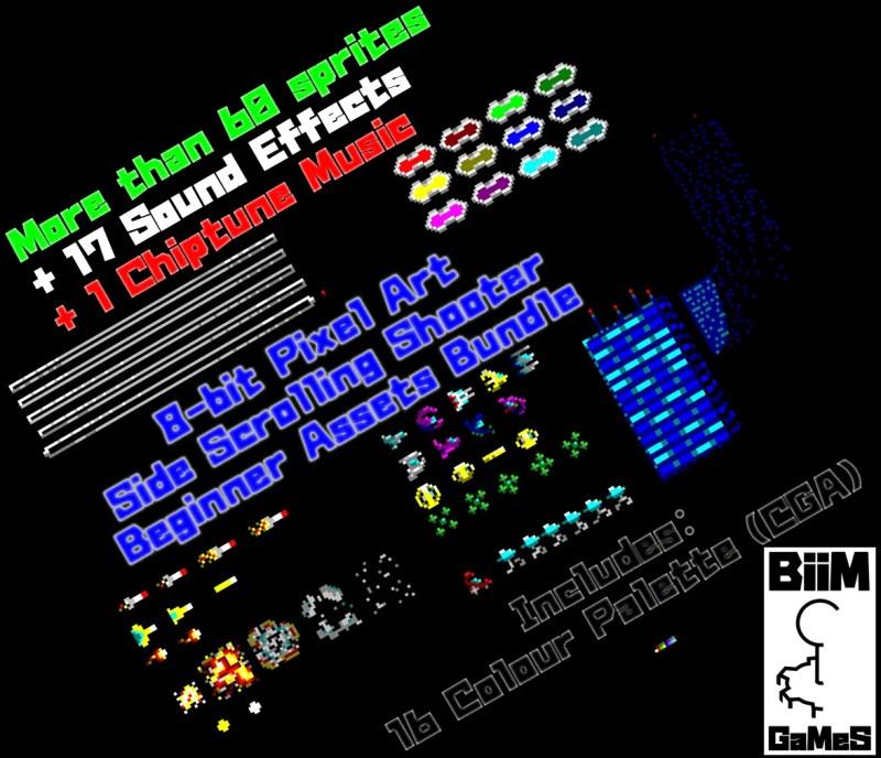 Pixel Art Side Scrolling Shooter Kit - Game Kit