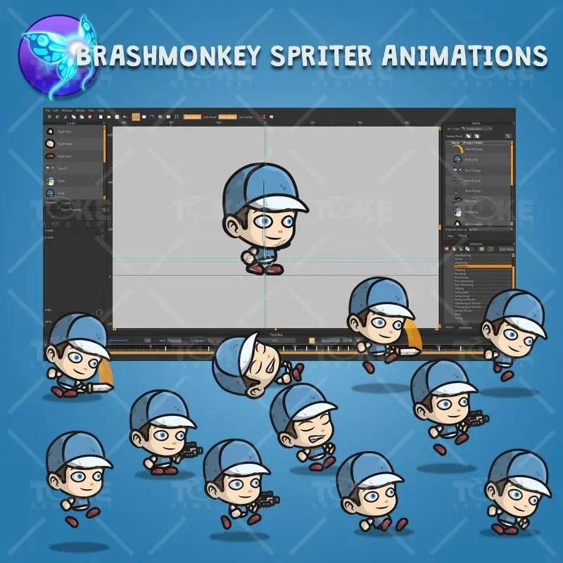 Adventurous Guy 02 - Brashmonkey Spriter Charcater Animations