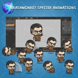 Chibi Prisoner Guy - Brashmonkey Spriter Character Animations
