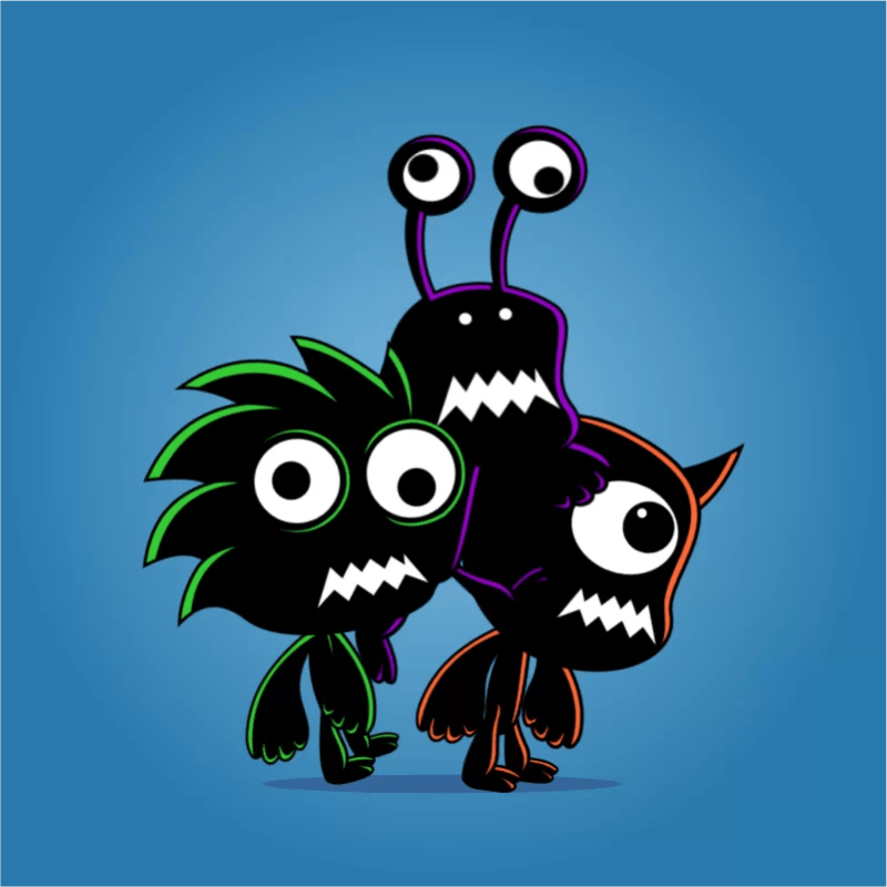 3 shadow enemy monsters - 2D Character Sprite