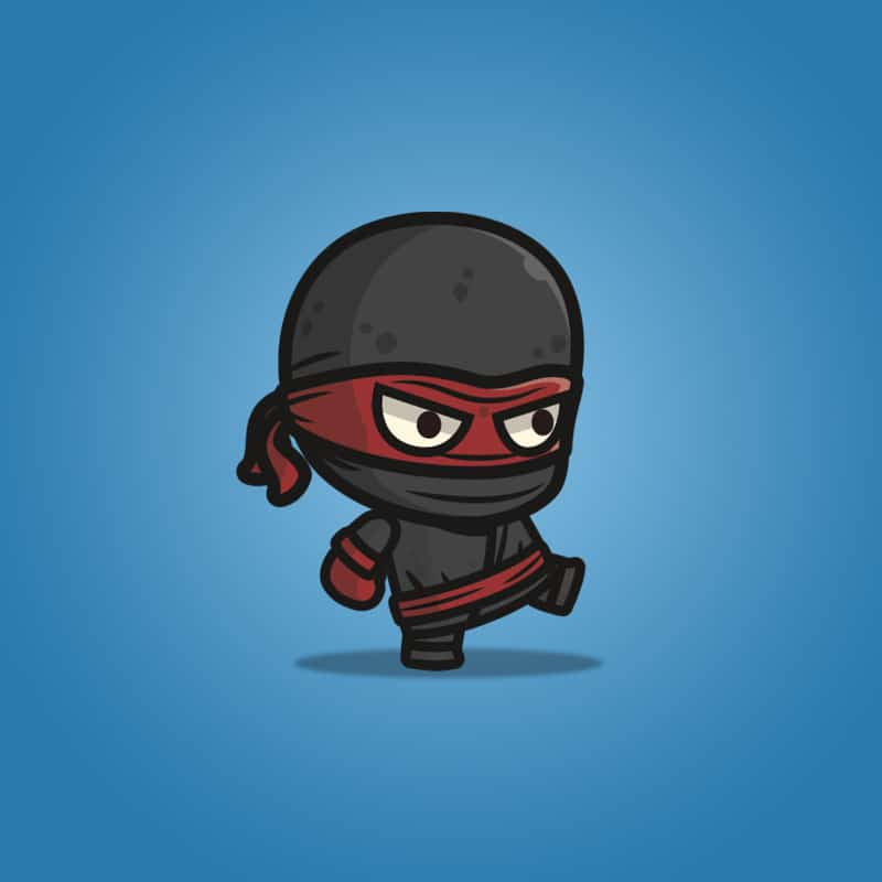 Black Ninja - 2D Character Sprite