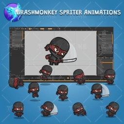 Black Ninja - Brashmonkey Spriter Charcater Animations