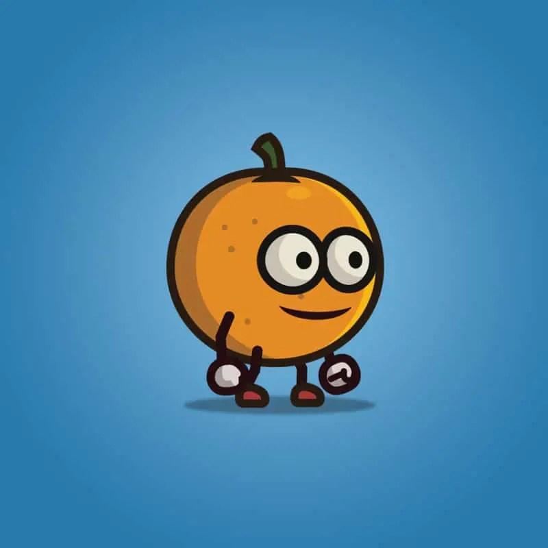 Orange Guy - 2D Character Sprite