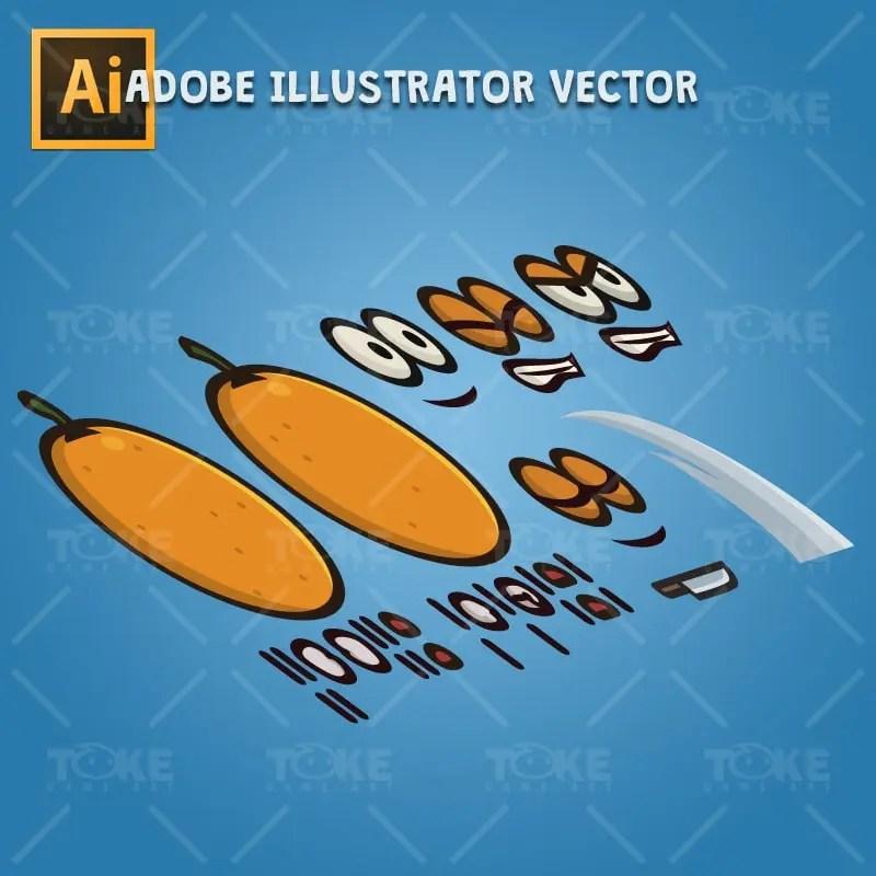 Orange Guy - Adobe Illustrator Vector Art Based Character Body Parts