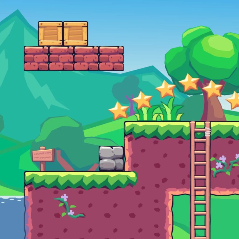 Seamless Hill Area - 2D Game Tileset