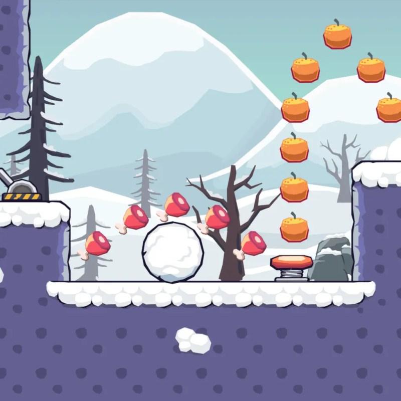 Seamless Snow Area - 2D Game Tileset