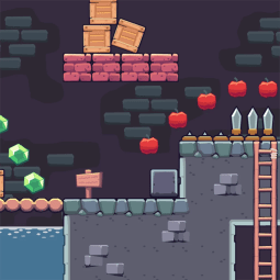 Dungeon Area - 2D Game Tileset