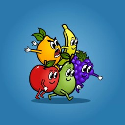Fruit Monster 5-Packs - 2D Character Sprite